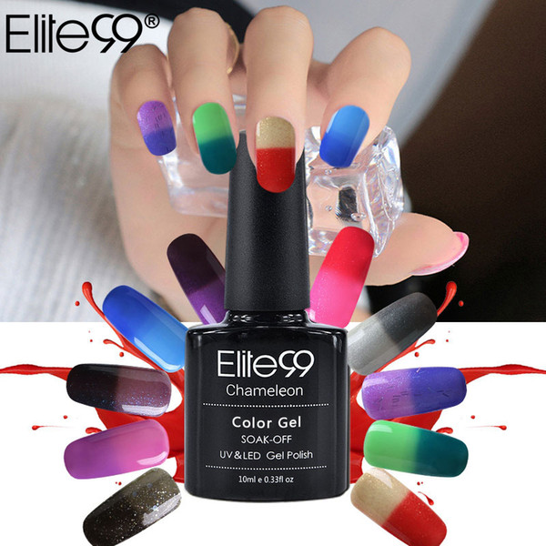 chameleon nails Elite99 Chameleonic Nails 10ml Temperature Color Change Polish UV Curing Mood Changing Gel Polish Nail