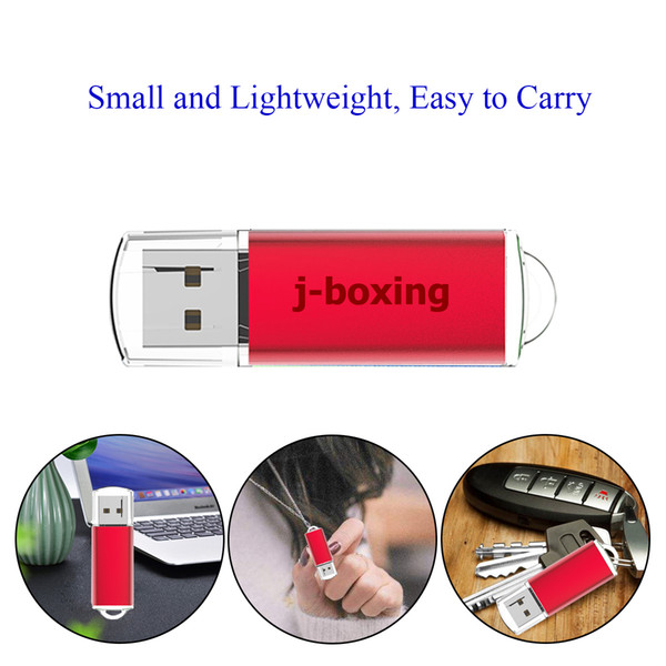 Hotsale Portable 32GB USB 2.0 Flash Drives Rectangle Usb Memory Sticks Flash Pen Drive for Computer Laptop Macbook Tablet Black/Silver/Red