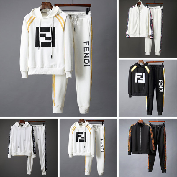 best selling 2019 new famous brand designer mens tracksuit Autumn Winter Men's Tracksuits letter print embroidery casual men sports joggers