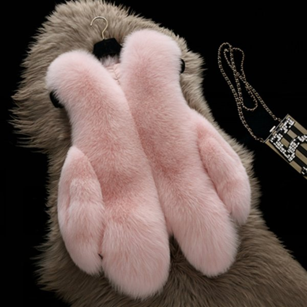 Uwback Faux Fur Gilet 2017 Pink/Black Faux Fox Fur Vest White/Black Slim Plus Size 4XL Short Jacket And Coat TB1263