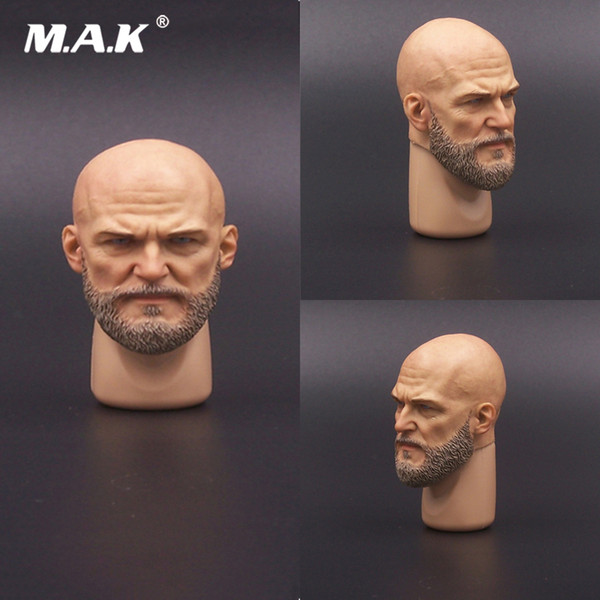 1/6 Male Soldier Head Sculpt Accessory Model A-20 Man Head Sculpture Bearded for 12inches Action Figure Body
