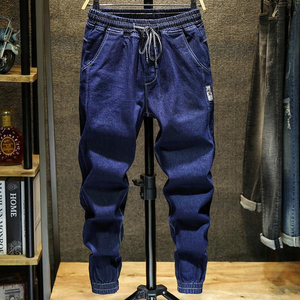 Herbst neue Pluderhosen Herren große Größe lose lässige Jeans Herrenmode Dünnschliff Werkzeug Stil knöchellangen Jeans