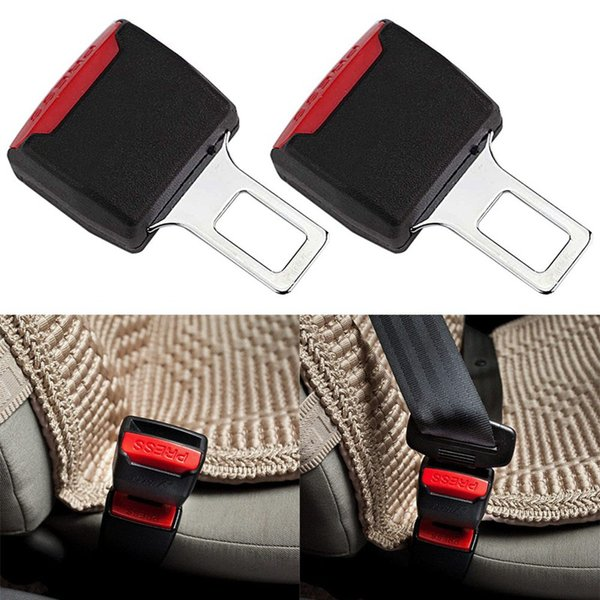 1Pcs Creative Black Car Seat Belt Clip Extender Safety Seatbelt Lock Buckle Plug Thick Insert Socket