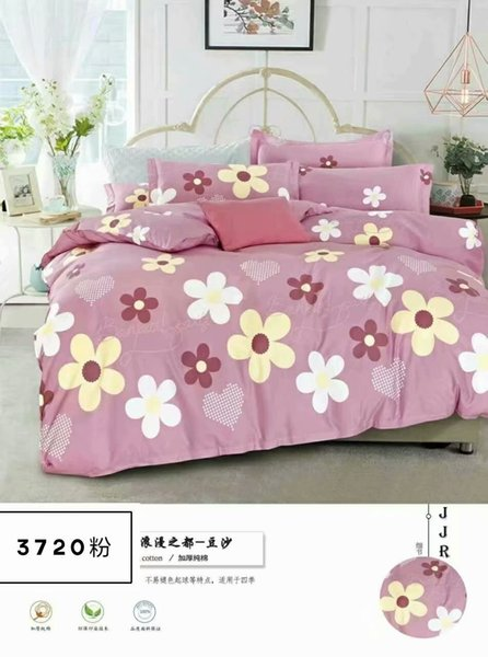 6pc flower variety of warm white dot colored cute bed sheet spring and autumn 100% cotton comfort kids home textile