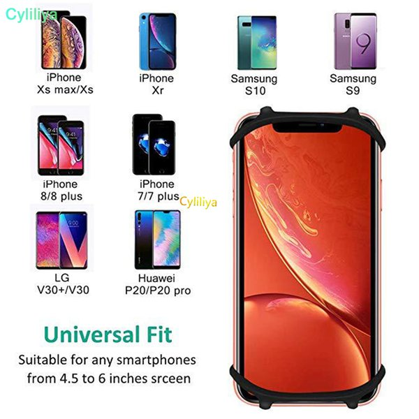 Adjustable Bicycle Phone Holder For iPhone Samsung Universal Mobile Cell Phone Holder Bike Handlebar Clip Stand GPS Mount Bracket