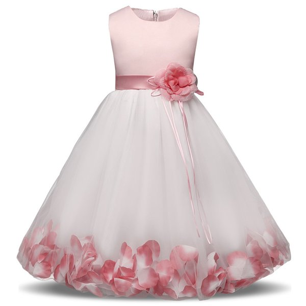 2019 Nieuwe Jurk Tulle Grijs Baby Bloem Meisje Trouwjurk Pluizige Baljurk Verjaardag Avond Prom Kleding Tutu Party Dress From H6241163 10 04