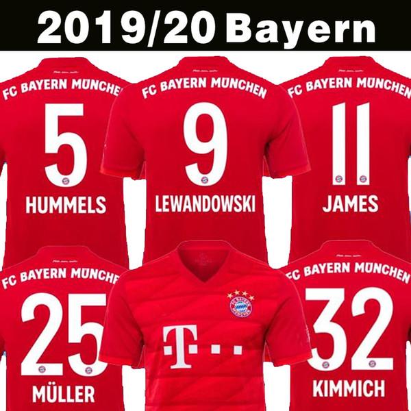 Top Thailand 19 20 Bayern München JAMES RODRIGUEZ Fußball Trikot 2019 2020 LEWANDOWSKI MULLER KIMMICH Trikot 18 19 20 HUMMELS Fußball Trikot