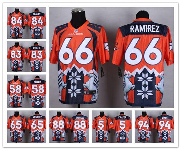 b13e054076fb5 Denver hombres Broncos 58 Von Miller 55 Bradley Chubb 4 Case Keenum Camiseta  de fútbol -
