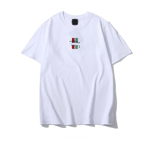 19ss menTshirt tasarımcı moda erkek Tişörtleri lüks T-shirt çift yüksek kaliteli sokak vahşi bayan t-shirt nakış hip hop t gömlek