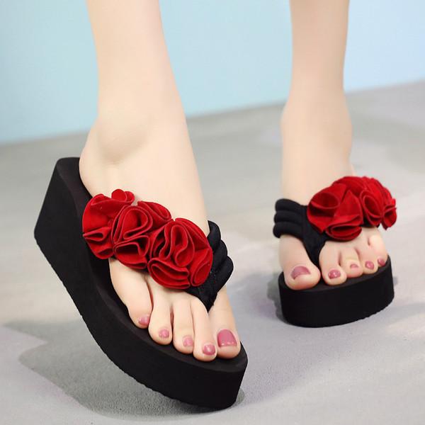 YOUYEDIAN женщины тапочки лето Platfrom шлепанцы женщина Повседневная обувь 2019 цветочные твердые женские пляжные тапочки