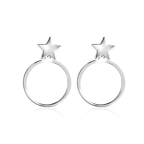 Women Europe Style Big Pendant Drop Earrings Women Exaggerated Jewelry Brincos Jewelry Gifts Star Shape Silver Color Star Shape