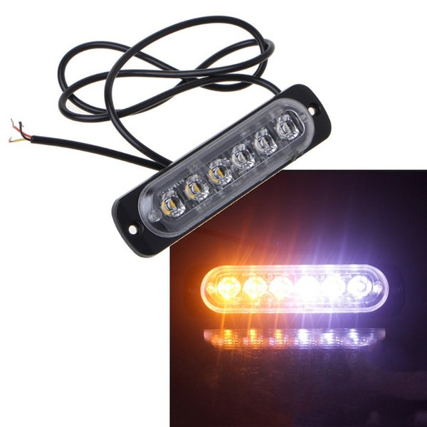 2x 6LED Voiture d'urgence Strobe Light Bar Avertissement Flash clignotant phare de voiture de camion