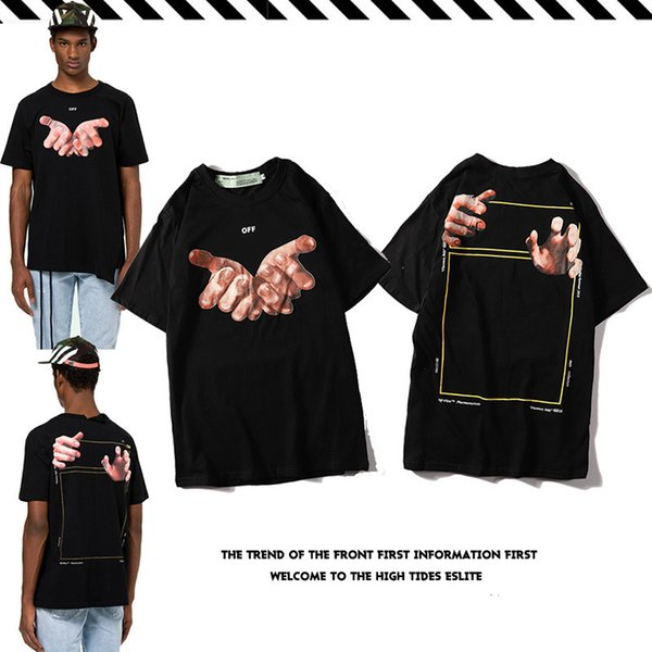 Tide Card Summer Men And Women Lovers Leisure Time Personality Large Hand Printing Street Hip-hop Short Sleeve T T-shirt