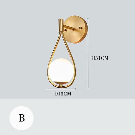 B настенный светильник