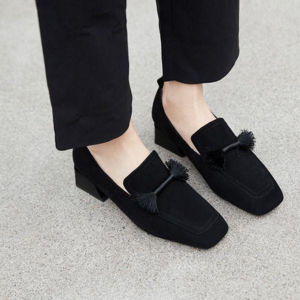 Mulheres Sapatos Vestido Oxford Sapato Trabalho Formal Calçado Criança Suede Apartamentos Slip-on Franja Mulher Loafer De Casamento De Couro Genuíno