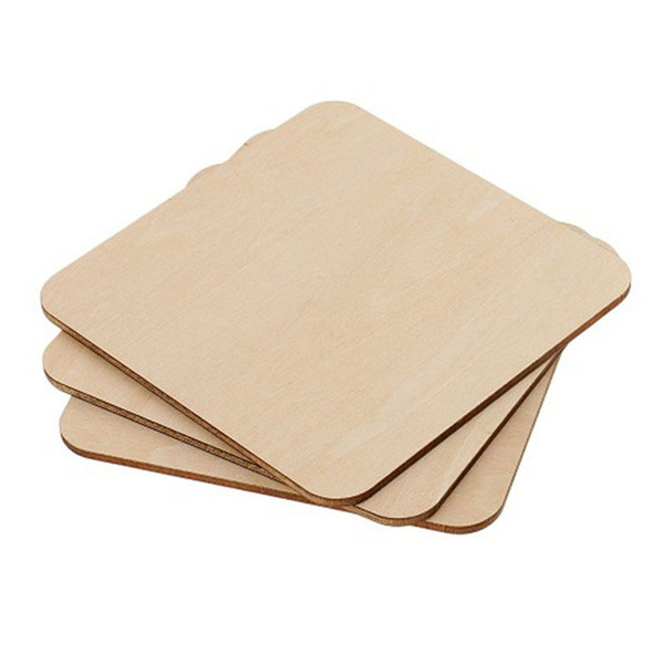 best selling Square Rectangle Unfinished Wood Cutout Circles Blank Wooden Slices Pieces for DIY Painting Art Craft Project Wedding Party Decor
