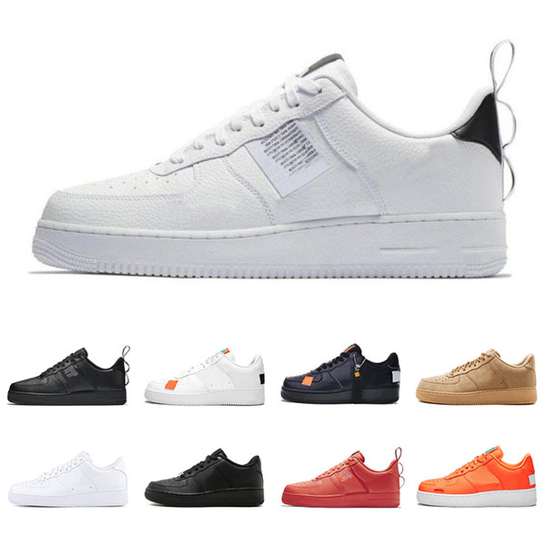 Nike Air Force 1 Utilitaire Noir Blanc Rouge Dunk Hommes Femmes Casual Chaussures High Low Cut Blé Skateboard Designer Sneakers Sport Taille 36-45