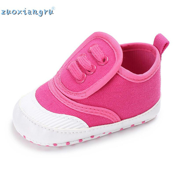 Spring And Autumn Bright Colors Unisex Baby Canvas Shoes Soft Skid-proof Sole Baby Sneakers Comfortable Casual Shoes