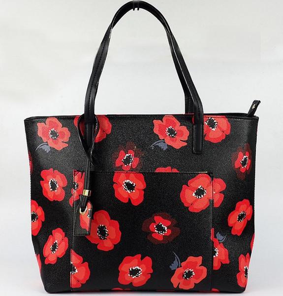 Marka çiçek büyük kapasiteli çanta tote NEW YORK kadın çanta klasik kadın omuz çantaları crossbody çanta maça marka çanta tote