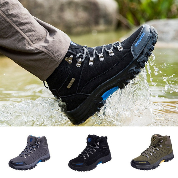 Erkekler sneakers shoes Erkekler Açık Sneakers Pamuk Kumaş Dantel-up Yürüyüş Ayakkabıları Su Geçirmez Anti-Patinaj Erkek Spor Ayakkabı Dropshipping 0911