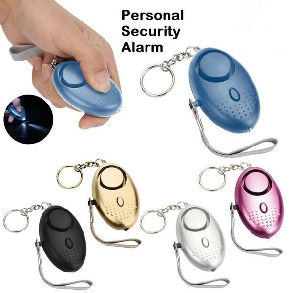 130db Personal Defense Sirena Anti-attacco di sicurezza per i bambini e le donne anziane che trasportano un allarme di panico Gadget per esterni CCA11788 60 pz