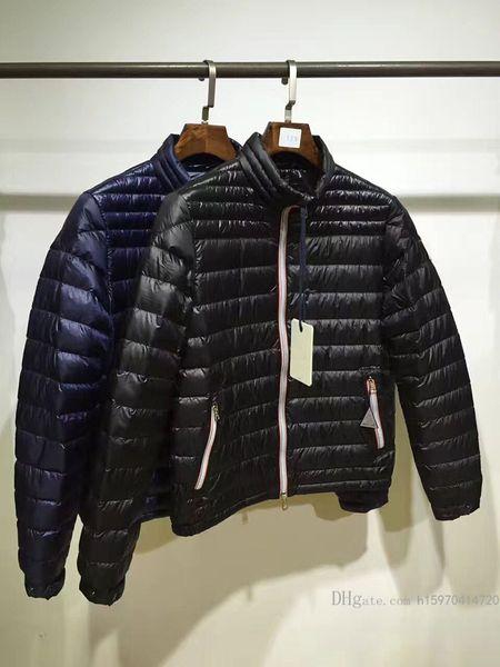 Sonbahar ve Kış Yeni Erkek Tasarımcı Ceketler Standı Yaka Işık Yüksek Kalite Lüks Beyaz Kaz tüyü Ceket Rahat Aşağı Sıcak ceket