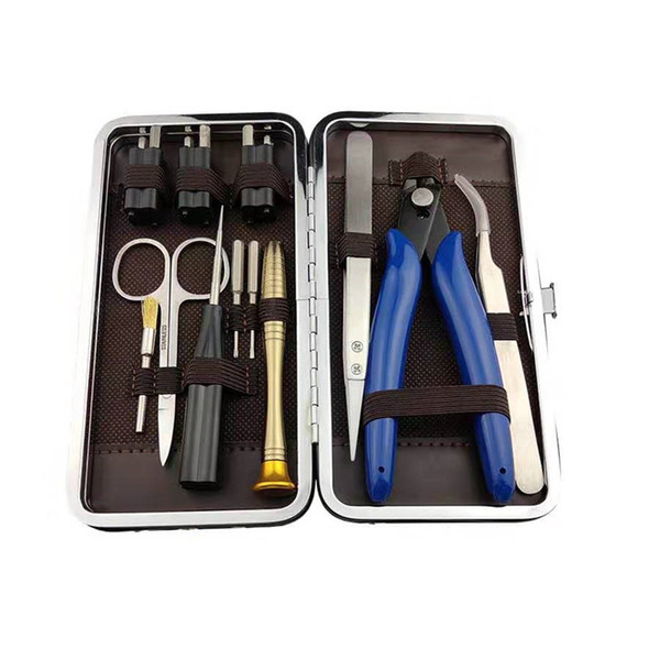 Authentic Vapswarm V3.5 Tool Kit Set for Vape DIY RDA RBA Building Coil Jig Allen Screwdriver Scissors Pliers Tweezer Brush Carry Bag