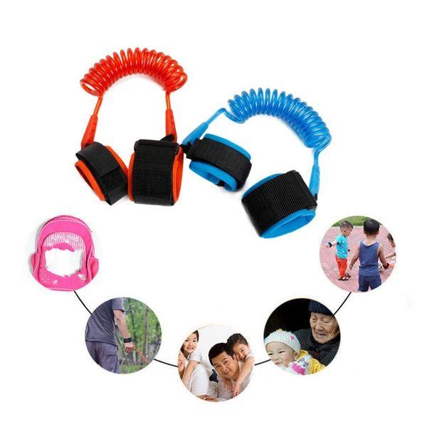 2m Einstellbare Harness Leash Strap Kinder Sicherheit Anti-verlorene Handgelenk Link Band Kinder Armband Armband Baby Kleinkind Hand Gürtel