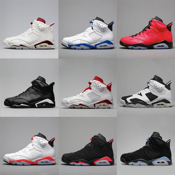 Nuovo 2019 Nero Infrarossi Bambini VI 6 s Scarpe Da Basket Per Bambini Luci Estive Sneakers Calzature Sportive Eu 28-35 Chaussures Enfant