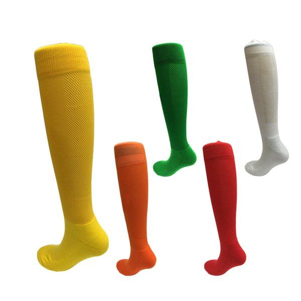 Kids Professional Football Socks Colored Tube Sock Knee High Breathable Sport Running Basketball Long Stockings for Kids and Teens