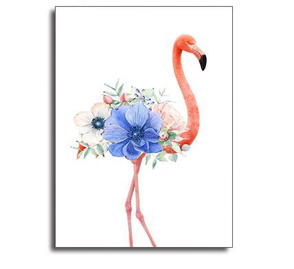 Nordic Style flamingos Poster Canvas Print Modern Wall Art Painting Picture Chic Wall Drawing Ornament For Cafe Bedroom Shop