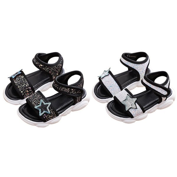 Summer Summer Baby Girls Breathable Anti-Slip PU Shoes Sandals Toddler Soft Soled First Walkers