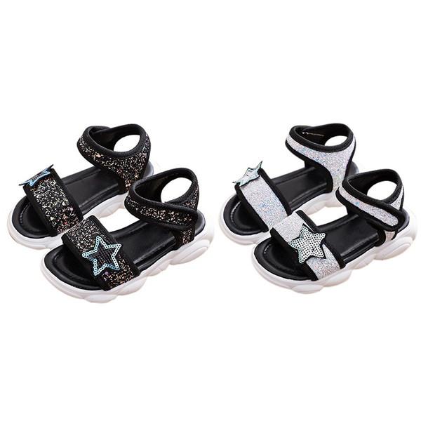 Summer Summer Bebés Meninas respirável antiderrapante PU Calçados Sandálias da criança macia Soled Primeira Walkers