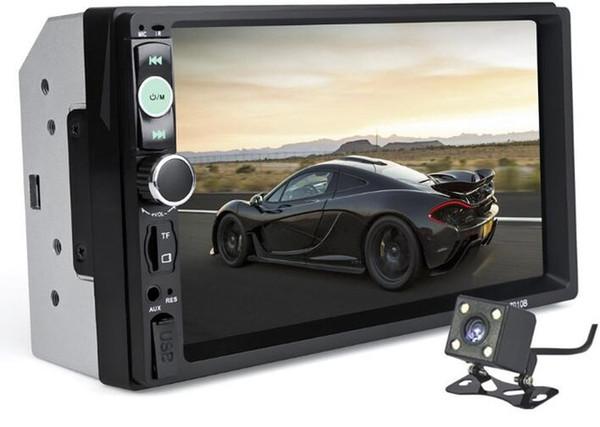 Araba Radyo 7010B 2 Din 7 '' HD Dokunmatik Ekran Bluetooth Stereo Radyo FM / MP3 / MP4 / Ses / Video / USB Oto Elektronik Dash MP5 Çalar