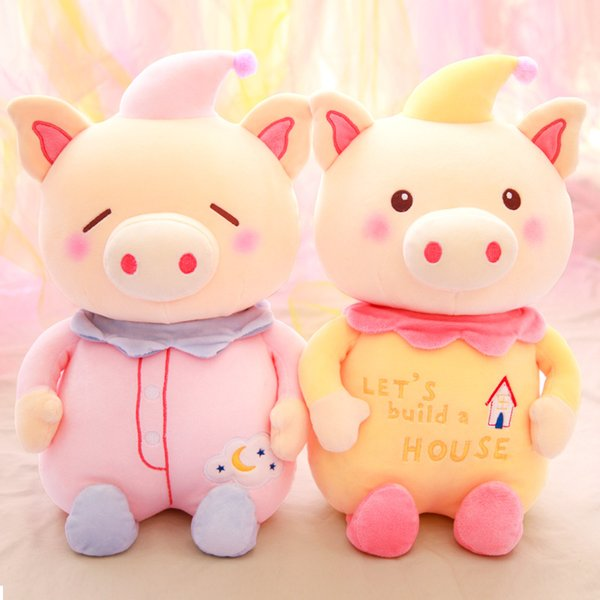 plush toys Cute Blessing unicorn Pig Plush Toy Doll Pig Year Mascot Stuffed Animals Toys the best Gift for kids toys