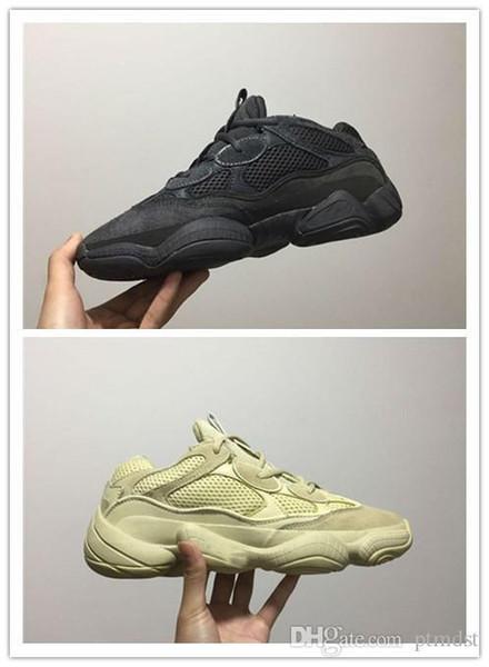 Venda quente New Cinza Bota wsqsb 500 Blush Deserto Rato Kanye West Wave Runner Sneakers Tênis de corrida Athletic Sneaker botas Ao Ar Livre