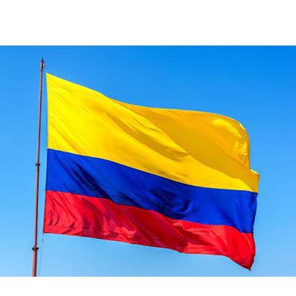 90 * 150 cm Bandeira Da Colômbia Bandeira 3x5ft Colombiano Da América Do Sul Fãs de Poliéster Torcendo Bandeiras Decorações Do Partido DHL SHIP AN2074