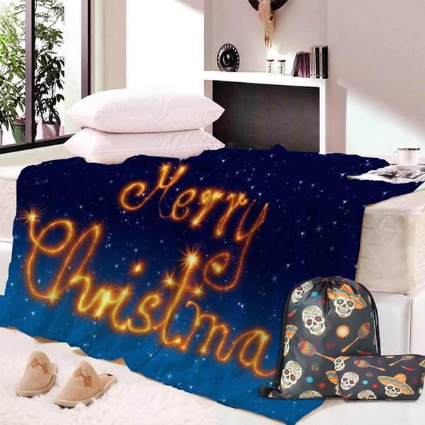 Custom DIY Christmas Blanket Soft Plush Fashion Cloak With Watching Robe Blanket Throw Blankets Ropa de cama Decoración del hogar Regalos