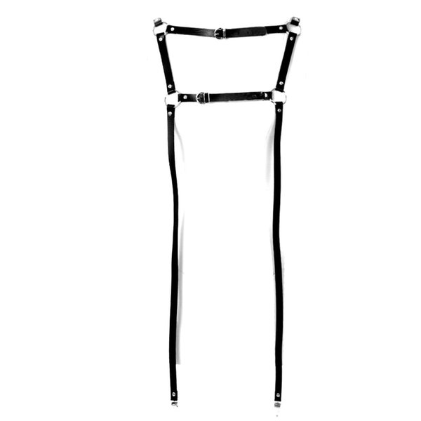 Leather Leg Garter Harness Strap Women Body Cage Punk Goth Black Adjust Stockings Garters Belt Wedding Festival Rave