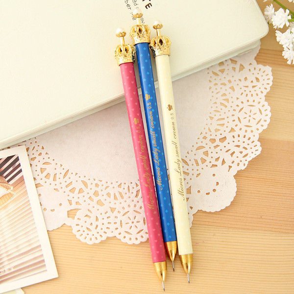 1pcs Kawaii office fountain pen Originality cute imperial crown pattern school stationery Supplies Black ink 0.38mm Pen refill