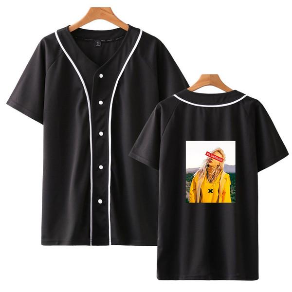 Moda HIP HOP estilo T Camisas De Basebol Billie Eilish Moda Harajuku Streetwear Roupas de Manga Curta T Camisas Frete Grátis