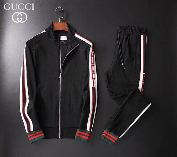 Spring and autumn 2019 men's wear designer suits and fashion casual suits men's sports suits for men 010