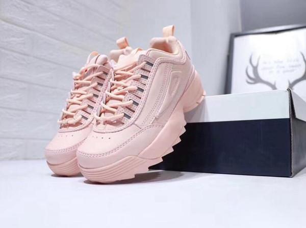 2019 vendita calda Moda II 2 Triple bianco nero grigio rosa Donna uomo sezione speciale sportivo sneaker aumentato scarpe da corsa casuali 36-44