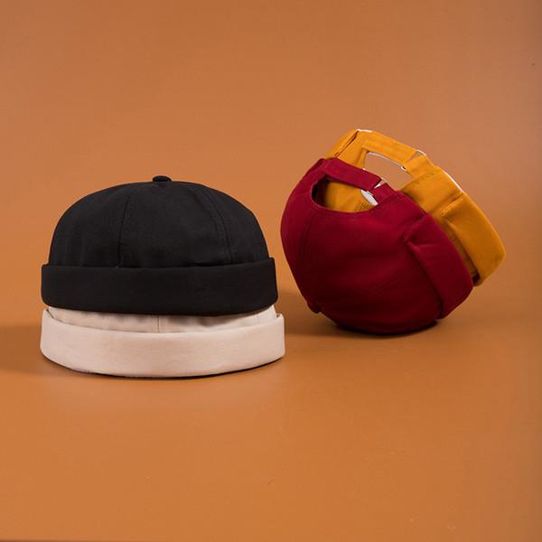Men's Summer Brimless Skullies Cap Vintage Urban Unique Street Portable Docker Hats Multipurpose Miki Beanie Hat designer hats caps men