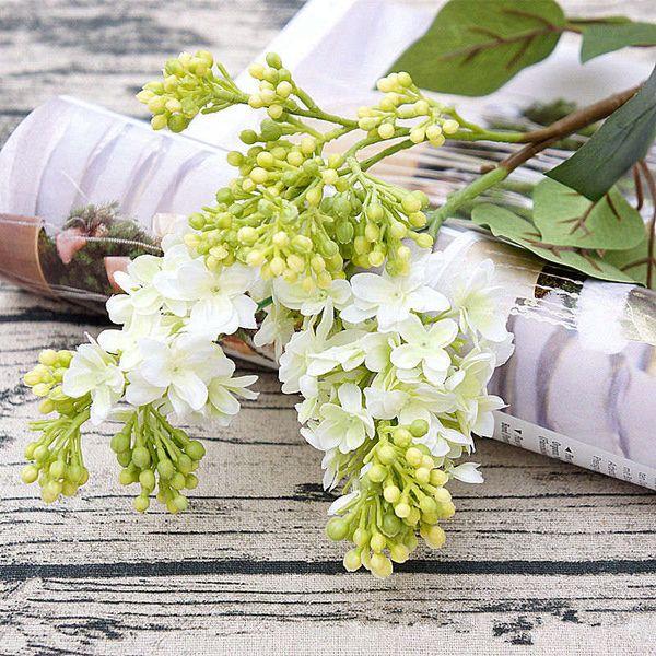 4Pcs/lot Artificial Lilac flowers beautiful silk flores for home Wedding DIY decoration Fake flower arrangement wreath garland