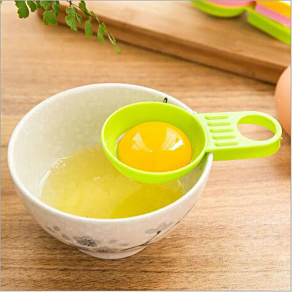 High Quality Egg Yolk White Separator Divider Kitchen Cooking Tools Accessories Egg Separator Multi Colors free shipping 70