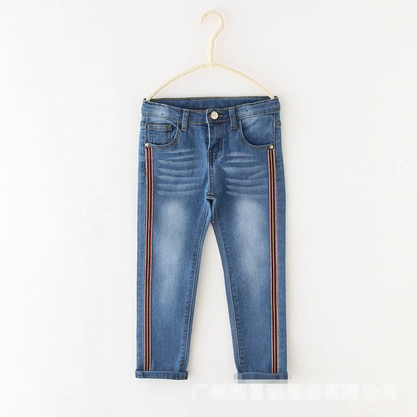 Fashion girls jeans Denim kids jeans kids designer clothes girls trousers skinny jeans pants kids clothes girls clothes A6492