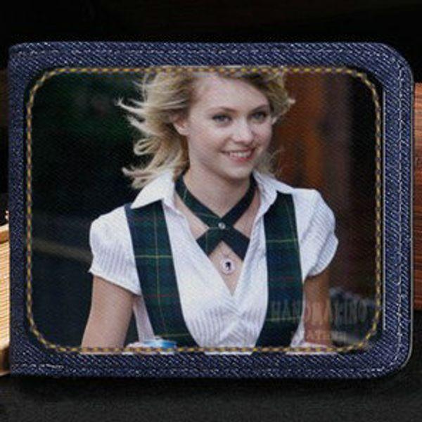 Tay wallet Taylor Momsen Barbie purse Blondie star short cash note case Money notecase Leather jean burse bag Card holders