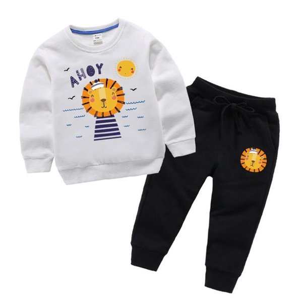 Retail Baby Kids Cartoon Fashion Casual Patchwork Two-Piece Suits Clothing Sets Infant Boys Outfits Sportwear Tracksuits Designer ClothesRet