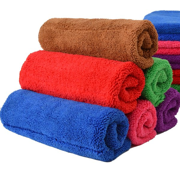 Coral velvet cleaning towel 40*60cm kitchen bathroom mopping towel rag Scouring Pad (5 PCS random color)